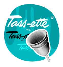 the first commercial menstrual cup the Tasette