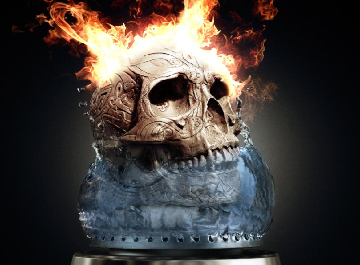 Fire Skull Screensaver