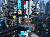 3d Virus Wallpaper Futuristic City 3d Screensaver For Windows Screensavers
