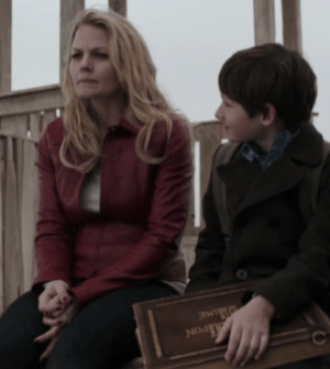 Jennifer Morrison as Emma and Jared Gilmore as Henry. Image © ABC Television Network.