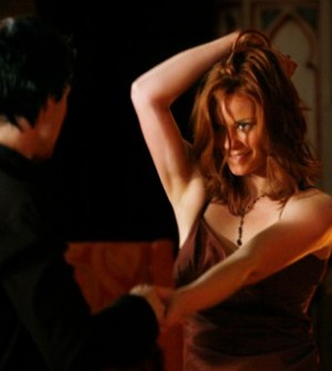 Ian Somerhalder as Damon and Cassidy Freeman as Sage. Image © CW Network.