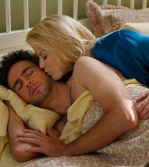 SMASH -- (l-r) Jack Davenport as Derek Wills, Megan Hilty as Ivy Lynn — (Photo by: Patrick Harbron/NBC)