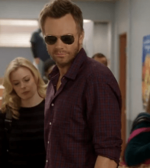 Gillian Jacobs and Joel McHale in Community (Image © NBC. All Rights Reserved.)