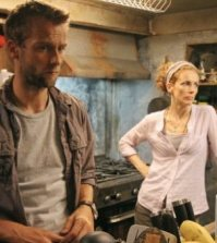 Joe Anderson and Leslie Hope in The River. Image © ABC Television Network