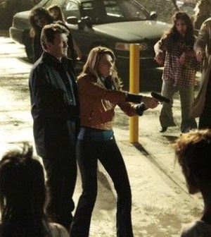 Nathan Fillion and Stana Katic in Castle. Photo by Richard Cartwright/ © ABC