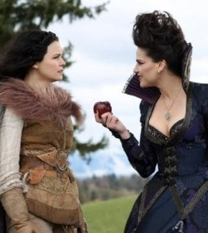 Ginnifer Goodwin and Lana Parrilla in Once Upon a Time. Image by Jack Rowland/ABC Television Network.