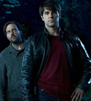 Silas Weir Mitchell as Monroe, David Giuntoli as Nick Burkhardt in GRIMM. Photo by Eric Ogden/ ©NBC