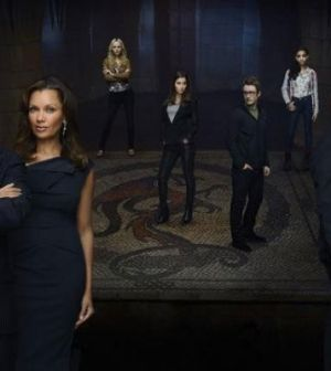 Pictured: the 666 Park Avenue cast. Photo by Andrew Eccles / © 2012 ABC
