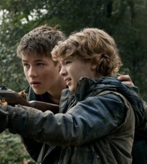 Connor Jessup and Maxim Knight in TNT's 'Falling Skies' Photo by James Dittiger