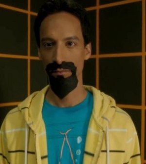 """Danny Pudi as """"Evil Abed"""" on Community (Image © NBC)"""