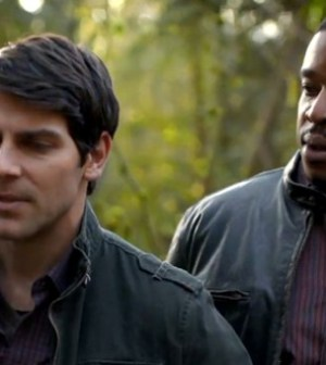 David Giuntoli and Russell Hornsby in Grimm. Image © NBC.