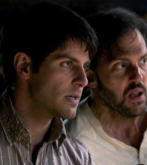 David Giuntoli (r) and Silas Weir Mitchell (l) in Grimm. Image courtesy and copyright NBC.