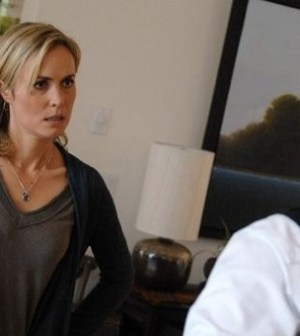 Radha Mitchell and Mido Hamada in ABC's Red Widow. (©ABC/SERGEI BACHLAKOV)