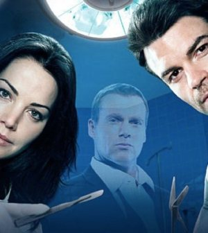 (R-L) Erica Durance, Micahel Shanks and Daniel Gillies in NBC's Saving Hope