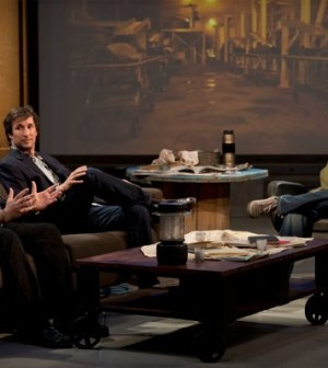 (l-r) Remi Aubuchon, Noah Wyle and host Wil Wheaton. Image ©2012 Turner Entertainment Networks, Inc