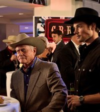 Larry Hagman and Josh Henderson in Dallas. Photo by Zade Rosenthal. Image © TNT