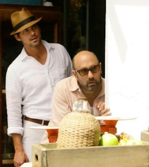 Matt Bomer as Neal Caffrey, Willie Garson as Mozzie  (Photo by: Javier Pesquera/USA Network)