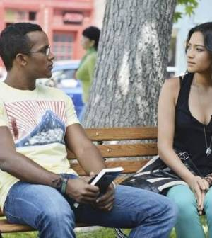 Pictured: Sterling Sulieman, Shay Mitchell. Image © ABC Family/Eric McCandless)