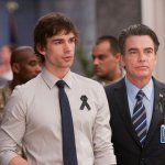 Christopher Gorham as Auggie Anderson, Peter Gallagher as Arthur Campbell -- (Photo by Christos Kalohoridis/USA Network)
