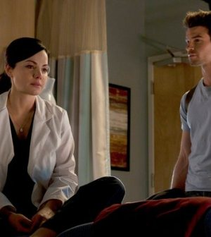 Pictured: Erica Durance and Daniel Gillies — (Photo by: Caitlin Cronenberg/NBC)
