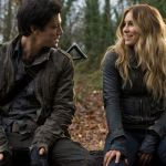 Drew Roy and Sarah Carter in Falling Skies. Photo by James Dittiger. Image © TNT.