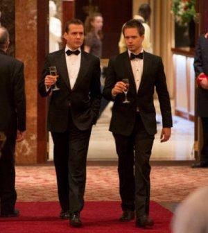 Gabriel Macht as Harvey Specter, Patrick J. Adams as Mike Ross -- (Photo by: Christos Kalohoridis/USA Network)