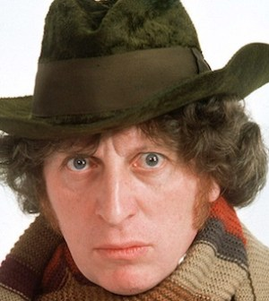 Tom Baker as Doctor Who's Fourth Doctor