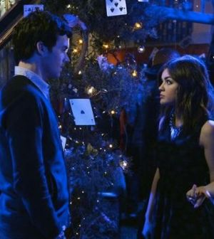 Ian Harding and Lucy Hale. Photo by Eric McCandless. Image © ABC Family