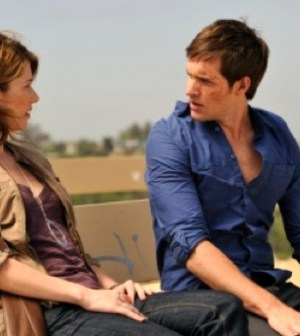 Jewel Staite and Jonathan Patrick Moore in The LA Complex. Photo by Darren Michaels/Epitome Pictures Inc.