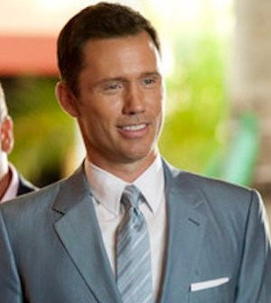 Bruce Campbell and Jeffrey Donovan in BURN NOTICE (Photo by Glenn Watson/USA Network)