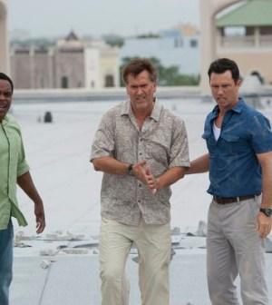 Chad Coleman as Brady, Bruce Campbell as Sam & Jeffrey Donovan as Michael. Photo by Glenn Watson/USA Network
