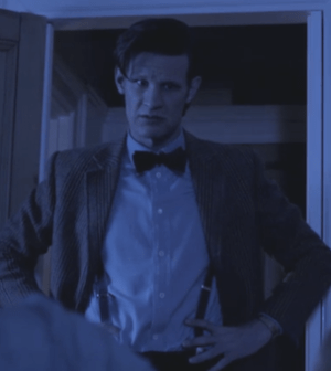 Matt Smith as the Doctor in 'Pond Life Part 2' (Image © BBC)