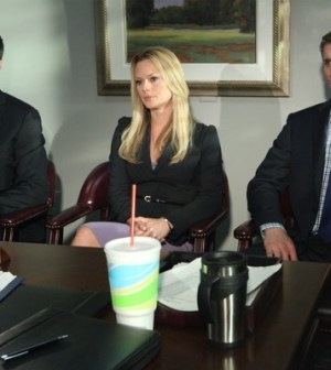 Jackson Hurst, Kate Levering & Tyler Jacob Moore in Drop Dead Diva. (Photo by Annette Brown)