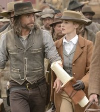 Anson Mount and Dominique McElligott in Hell on Wheels. Image © AMC
