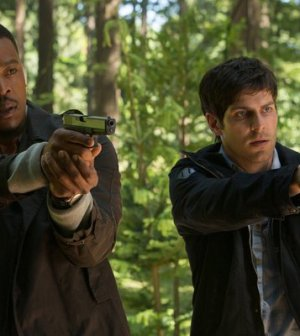 Russell Hornsby as Hank Griffin, David Giuntoli as Nick Burkhardt -- (Photo by: Scott Green/NBC)