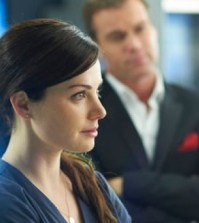 Erica Durance and Michael Shanks in Saving Hope. Photo by: Ken Woroner/NBC