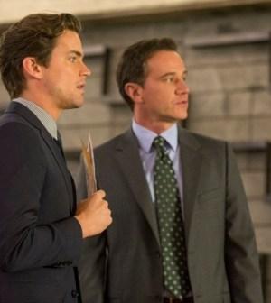 Matt Bomer as Neal Caffrey, Tim DeKay as Peter Burke -- (Photo by: David Giesbrecht/USA Network)