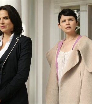 Lana Parrilla and Ginnifer Goodwin in Once Upon a Time. Image © ABC.