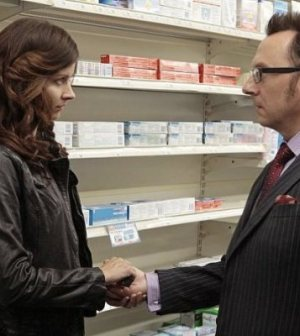 Amy Acker and Michael Emerson in CBS' Person of Interest. Image © CBS.