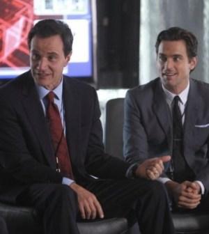 Tim DeKay as Peter Burke, Matt Bomer as Neal Caffrey -- (Photo by Eric Liebowitz/USA Network)