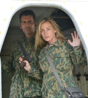 Oded Fehr as Eyal Lavine, Piper Perabo as Annie Walker -- (Photo by: Steve Wilkie/USA Network)