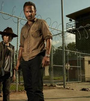 Carl Grimes (Chandler Riggs) and Rick Grimes (Andrew Lincoln). Photo by Frank Ockenfels/AMC