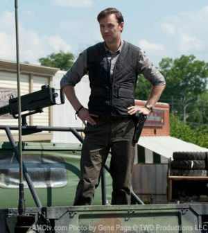 David Morrissey as the man with no name ... and a lot of fish tanks.