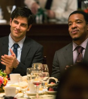 (l-r) David Giuntoli as Nick Burkhardt, Russell Hornsby as Hank Griffin -- (Photo by: Scott Green/NBC)