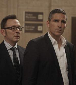 Michael Emerson and Jim Caviezel in Person of Interest. Image © CBS.