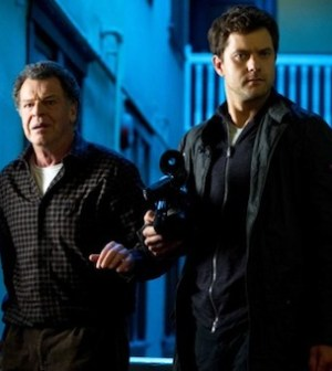 Walter and Peter (John Noble, Joshua Jackson) explore a strange pocket universe (Photo by Diyah Pera/FOX)