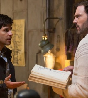 David Giuntoli as Nick Burkhardt, Silas Weir Mitchell as Monroe — (Photo by: Scott Green/NBC)