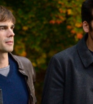 Christopher Gorham as Auggie Anderson, Oded Fehr as Eyal Lavin — (Photo by: Steve Wilkie/USA Network)