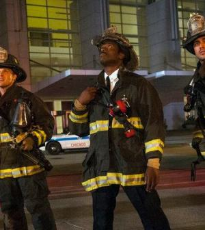 Jesse Spencer as Matthew Casey, Eammon Walker as Chief Wallace Boden, Taylor Kinney as Kelly Severide -- (Matt Dinerstein/NBC)