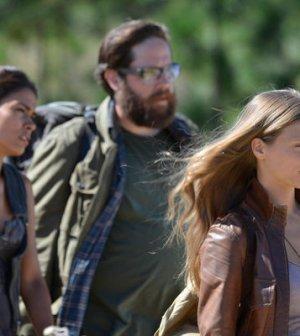 Daniella Alonso as Nora,  Zak Orth as Aaron, Tracy Spiridakos as Charlie Matheson -- (Photo by: Brownie Harris/NBC)